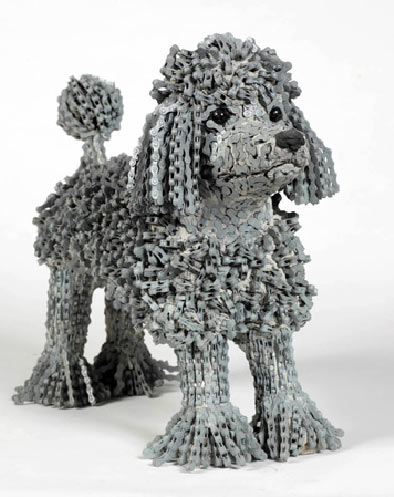 Nirit Levav Packer bicycle chain dog sculpture3