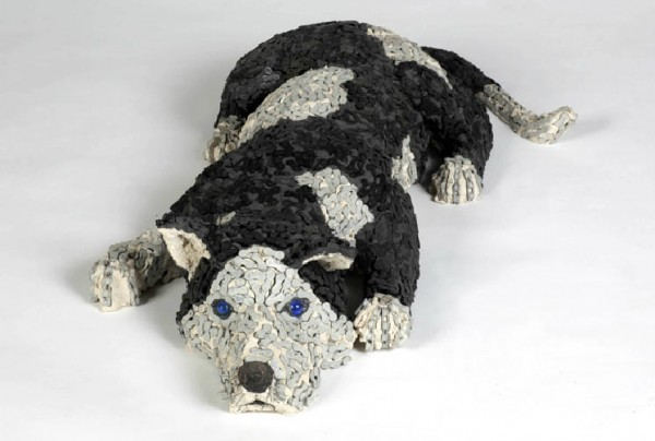 Nirit Levav Packer bicycle chain dog sculpture4 600x404