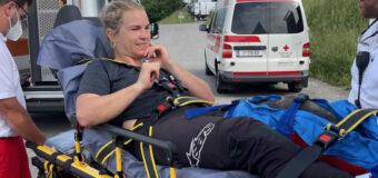 Трейси Хана получи травма след злополука на спускането на Crankworx в Инсбрук